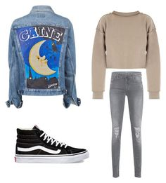 """""""Untitled #251"""" by ines-louu ❤ liked on Polyvore featuring My Mum Made It, 7 For All Mankind and Vans"""