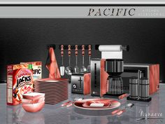 Pacific Heights Kitchen Accessories by NynaeveDesign at TSR via Sims 4 Updates