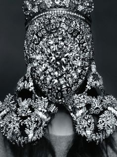 Kim Kardashian photographed by Karl Lagerfeld for CR Fashion Book #3. I don't mean rhinestones!