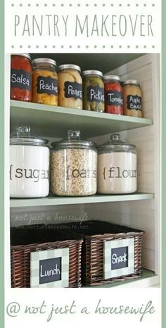 Pantry Makeover shallow shelves