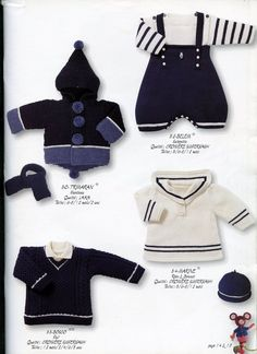 "Photo from album ""Bouton d'Or 10 on Yandex. Baby Knitting Patterns, Knitting Charts, Baby Patterns, Knitting For Charity, Knitting For Kids, Knitting Magazine, Crochet Magazine, Layette Pattern, Cardigan Bebe"