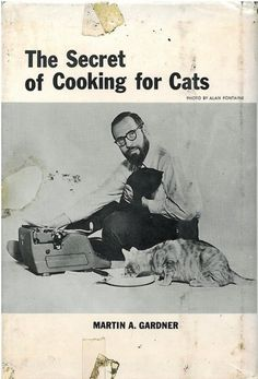 Martin A. Gardener and a Royal Typewriter on the cover of his slightly comical cookbook.
