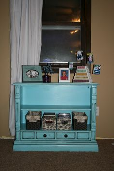 She made this out of an old console tv!  FABULOUS!