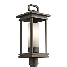 Buy the Kichler Rubbed Bronze Direct. Shop for the Kichler Rubbed Bronze South Hope Single Light Wide Outdoor Post Light with Cylindrical Etched Glass Shade and save. Outdoor Post Lights, Outdoor Wall Lighting, Outdoor Lantern, Driveway Lighting, Exterior Lighting, Outdoor Ideas, Outdoor Decor, Lamp Post Lights, Wall Lights
