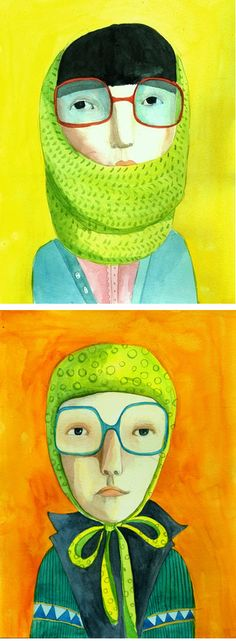 Jenny Meilihove. Cute. Would be great children's book illutrations.