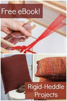 Learn everything you need to know about rigid-heddle weaving with this exclusive guide plus 3 FREE projects! #weaving #rigidheddle #looms