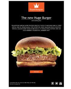 ¿Tu negocio gira en torno a la comida rápida? Utiliza esta plantilla y empieza a enviar newsletters súper chulas para tu campaña de e-mail marketing.