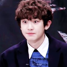 [GIF] 170112 | Coletiva de Imprensa de 'Missing 9' - Chanyeol. cr. DearmyCY