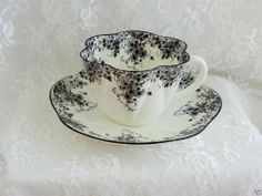 Rare Shelley Dainty Black Cup & Saucer