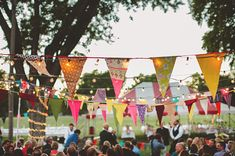 colorful fabric bunting decor