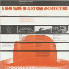 Poster, A New Wave of Austrian Architecture, 1980