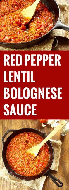 red pepper bolognese