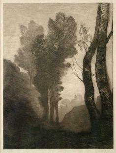 Inmediaciones de Roma, de Camille Corot; 1866