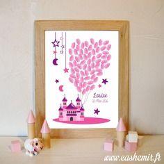 Arbre à empreintes anniversaire enfant, baptême, naissance, bébé, baby shower - fichier imprimable - n°124
