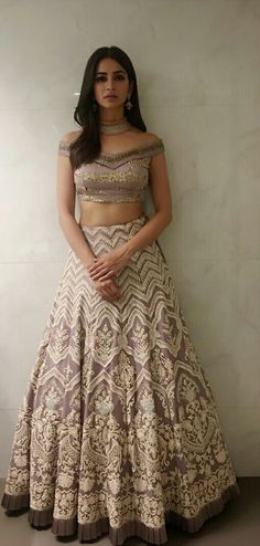 Kirti Kharbanda Lehenga Designs, Saree Blouse Designs, Indian Attire, Indian Wear, Indian Dresses, Indian Outfits, Indian Clothes, Fashion Bazaar, Indian Photoshoot