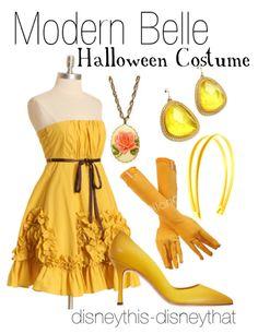 """Modern Belle Halloween Costume"" - holiday  DisneyThis-DisneyThat on Tumblr"