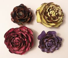 4 Rose Pine Cones for Arts and Crafts by Desert2ForestArt on Etsy