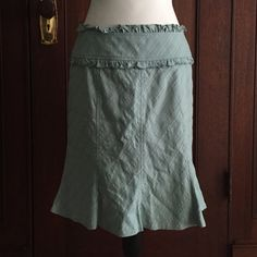 B2G1 FREE  Nanette Lepore skirt Ouì! This skirt is perfection at every level. Sweet Tiffany blue textured fabric in a cotton/nylon/spandex blend and fully lined. Back zip with double buttons. Fit with a slight flare at bottom. Nanette Lepore Skirts