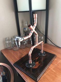 Items similar to The Server - Single Bottle Liquor Dispenser on Etsy Liquor Dispenser, Pipe Decor, Alcohol, Zinn, Diy Gifts, Handmade Gifts, Liqueur, Easy, Pure Copper
