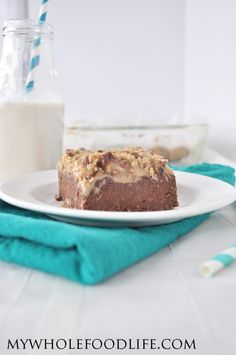German Chocolate Quinoa Brownies