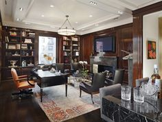 <3this chic Park Avenue Office/Library...