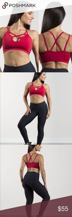 Red Brazilian Activewear Sports Bra The RED Bra from the Astrology Collection by LalaLee is a medium-support sports bra with a scoop neckline and criss-cross chest detail. For yoga, Pilates, or feeling like a superstar in your every day, this bra stands up to performance without compromising style. Runs One Size fits most, 32A-36C. Padded. Lalalee Leggings Intimates & Sleepwear Bras