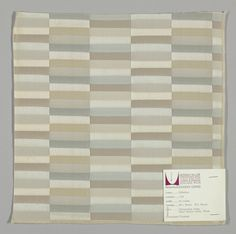 "Number 1150 ""Millshine"" for Herman Miller Fabrics, Manufactured by Moss Rose Mfg. Co. 1960"