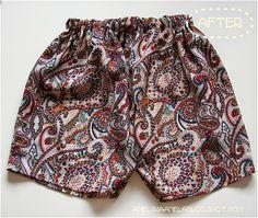 DIY TUTORIAL.. shorts .from men's shirt ...jak uszyć szorty spodenki z męskiej koszuli ?