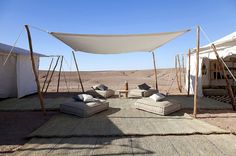 From luxury desert camps and riad hotels to Atlas mountains walks and cooking lessons in the souks of Marrakech, we round up the best new holidays in Morocco Outdoor Spaces, Outdoor Living, Outdoor Decor, Marrakech, Hostels, Tent Design, Luxury Tents, Luxury Hotels, Camping Blanket