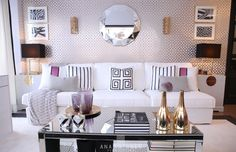 Home-Styling | Ana Antunes: Querido Mudei a Casa Tv Show #2314 - Gold Trellis Room - Before and After