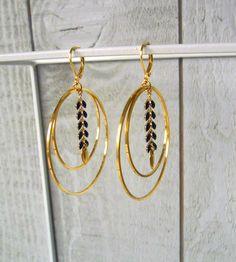 Boho Earrings, Earrings Handmade, Bijoux Fil Aluminium, Jewelry Accessories, Jewelry Design, Homemade Jewelry, Bead Jewellery, Bijoux Diy, Designer Earrings