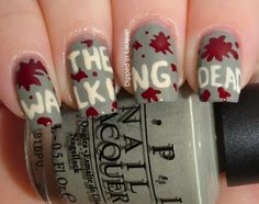 Dipped in Lacquer: Comic-Con Geek Week Nail Art Challenge Day 2 - Inspired by a TV Show