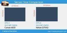 Canon 80D vs Nikon D7100 Sensor Size Comparison
