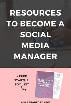 FREE Resources to Become A Social Media Manager - Want to become a social media manager and work from home? This free resource library has worksheets - Social Media Services, Social Media Content, Social Media Tips, Social Media Marketing, Email Marketing, Digital Marketing, Business Tips, Online Business, Business School
