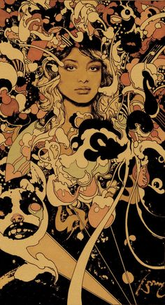 Vania Zouravliov's portrait of the amazing rapper/performer M.I.A