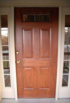 Front Door Redo Using Faux Wood Grain Technique