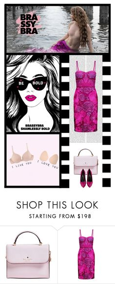 """""""Brassybra® (21)"""" by irresistible-livingdeadgirl ❤ liked on Polyvore featuring Kate Spade, Notte by Marchesa, Pink, YSL, katespade and saintlaurent"""