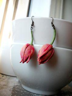 handmade polymer clay tulip