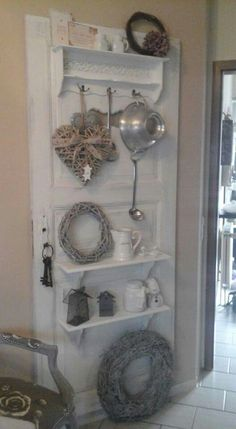 Great use of old door !!! saved by Antonella B.Rossi