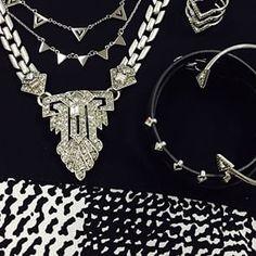 Collier CASABLANCA - Collier 3 rangs PAVE CHEVRON - Bague CHEVRON PAVE - Bracelets REMY WRAP et PAVE ARROW | Stella & Dot