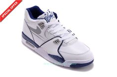 online store ea802 a813c Nike Air Flight 89 306252-114 Leather White Blue Discount Nike Air Flight,