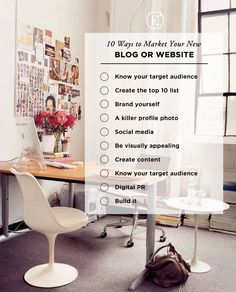 10 Ways to Market Your New Blog or Website || theeverygirl.com