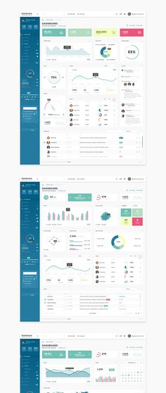 Multipurpose PSD template for admin panel. Can be used for any type of web…