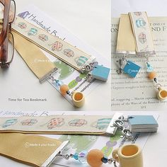 Time for Tea Bookmark by Made4yourBooks on Etsy, £9.00