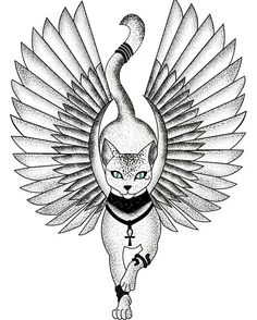 Egypt Cat #VectorCat #tattoodesign #tattoo #tattooart
