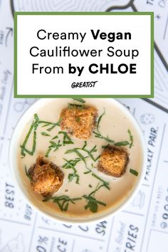You'll be spooning this one all season long.  #greatist https://greatist.com/eat/by-chloe-rich-and-creamy-vegan-soup-recipe