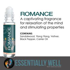 Romance - A captivating fragrance for relaxation of the mind and stimulating properties #essentiallywell #diykit #makeandtakekit #essentialoils #reflexology
