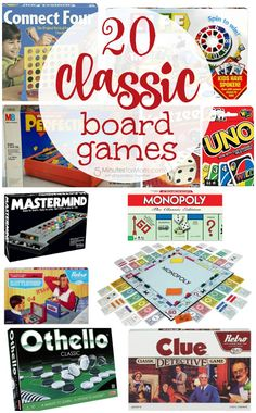 Top 20 Classic Family Board Games You Must Play With Your Kids - 5 Minutes for Mom Top 20 classic board games your family will love – These are perfect for family game night! Top Board Games, Board Game Themes, Best Family Board Games, Clue Board Game, Board Games For Couples, Board Game Table, Classic Board Games, Family Games, Game Tables