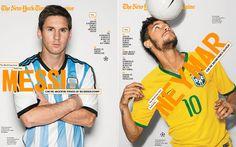 Messi, Neymar e Iniesta, protagonistas de la revista del New York Times
