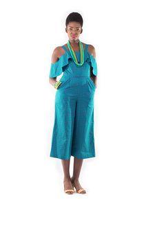 Shumikazi Turquoise Blue jumpsuit
